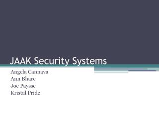 JAAK Security Systems