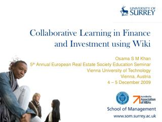 Collaborative Learning in Finance and Investment using Wiki