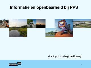 Informatie en openbaarheid bij PPS