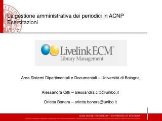 La gestione amministrativa dei periodici in ACNP Esercitazioni