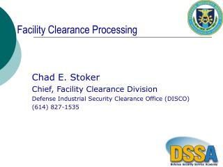 Facility Clearance Processing
