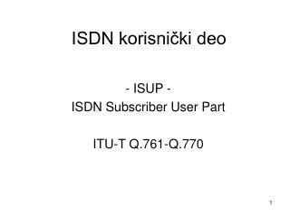 ISDN korisni?ki deo