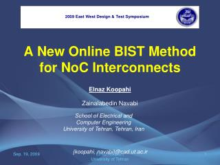 A New Online BIST Method for NoC Interconnects