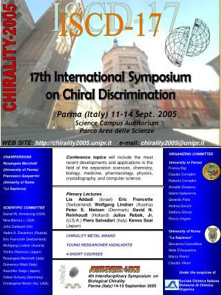 Parma (Italy) 11-14 Sept. 2005 Science Campus Auditorium Parco Area delle Scienze