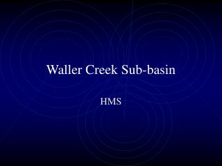 Waller Creek Sub-basin