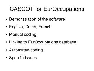 CASCOT for EurOccupations