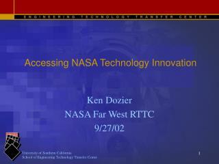 Accessing NASA Technology Innovation