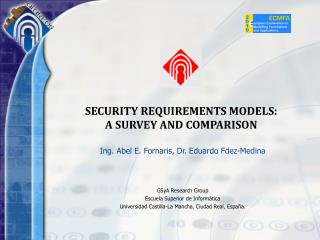 SECURITY REQUIREMENTS MODELS:  A SURVEY AND COMPARISON