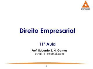 Direito Empresarial 11ª Aula