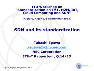 SDN and its standardization