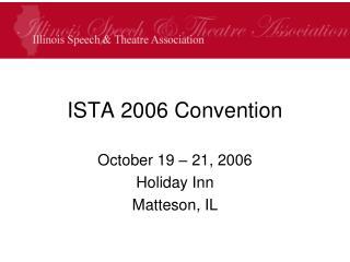 ISTA 2006 Convention