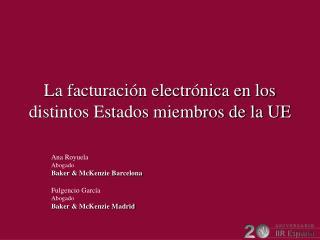 La facturación electrónica en los distintos Estados miembros de la UE
