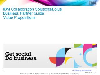 IBM Collaboration Solutions/Lotus Business Partner Guide Value Propositions
