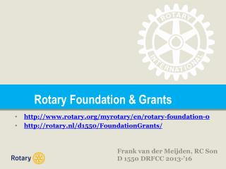 Rotary Foundation & Grants