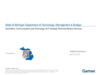 State of Michigan Department of Technology, Management & Budget