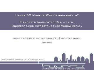 Urban 3D Models: What's underneath?