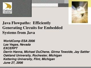 Java Flowpaths:  Efficiently Generating Circuits for Embedded Systems from Java