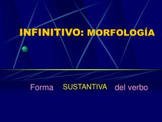 INFINITIVO:  MORFOLOGÍA
