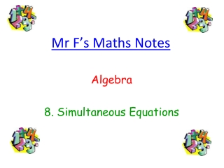 Solving Simultaneous Equations 1