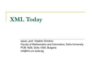 XML Today