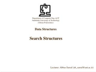 Search Structures