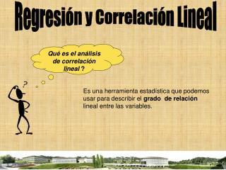 Regresi�n y Correlaci�n Lineal