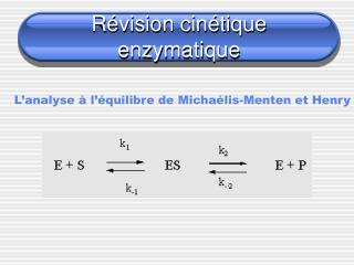 R vision cin tique enzymatique