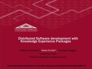 Distributed Software development with Knowledge Experience Packages
