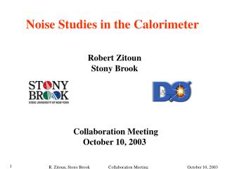 Noise Studies in the Calorimeter