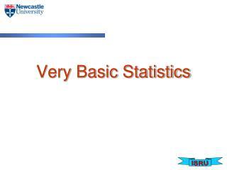 Very Basic Statistics