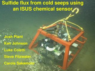 Sulfide flux from cold seeps using an ISUS chemical sensor