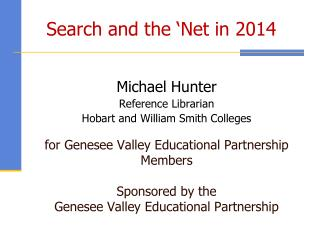 Search and the 'Net in 2014