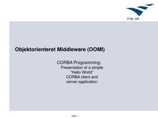 Objektorienteret Middleware (OOMI)
