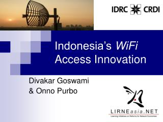 Indonesia's  WiFi  Access Innovation