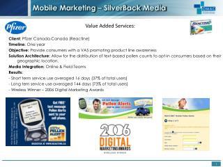 Mobile Marketing –  SilverBack  Media