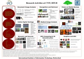 Research Activities at CVIT, IIIT-H