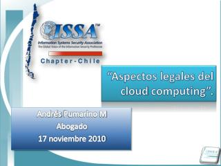 """Aspectos legales del  cloud computing ""."