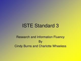 ISTE Standard 3
