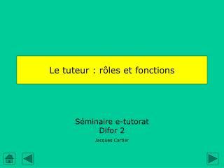 Le tuteur : rôles et fonctions