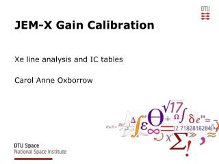JEM-X Gain Calibration