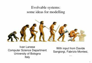 Evolvable systems: some ideas for modelling