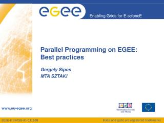 Parallel Programming on EGEE: Best practices