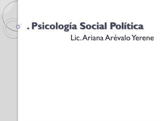 . Psicología Social Política