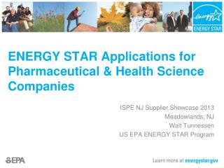 ENERGY STAR Applications for Pharmaceutical & Health Science Companies