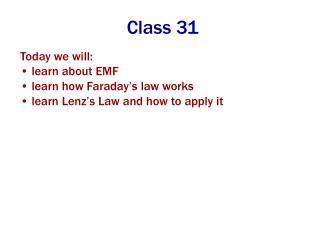 Class 31