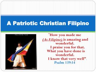 A Patriotic Christian Filipino