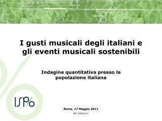 I gusti musicali degli italiani e gli eventi musicali sostenibili