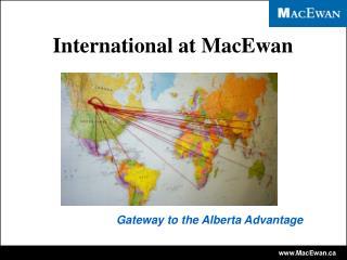 International at MacEwan