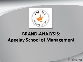 BRAND-ANALYSIS:  Apeejay School of Management