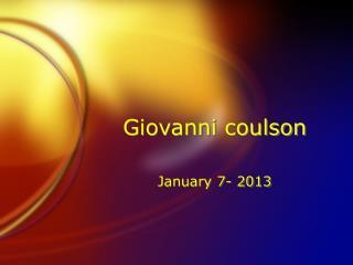 Giovanni coulson
